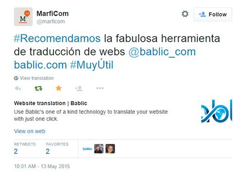 Marficom Bablic Tweet