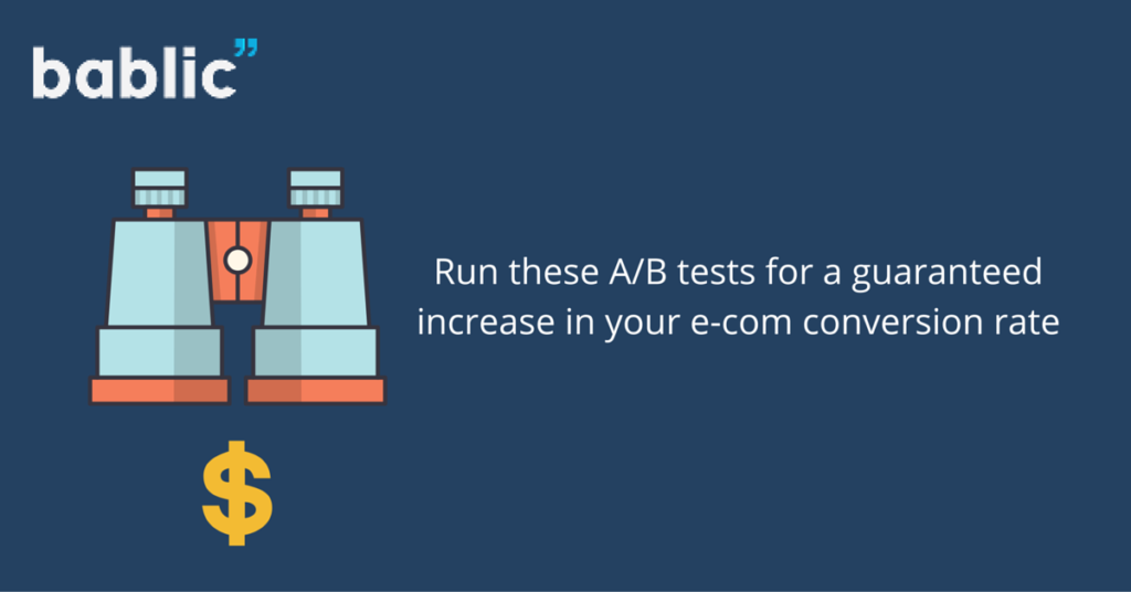 A/B Tests for Ecommerce