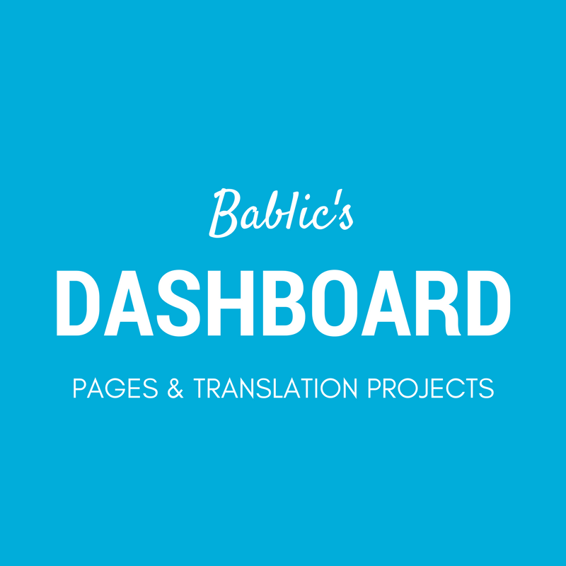 Bablic Dashboard - Paegs and Translation Projects