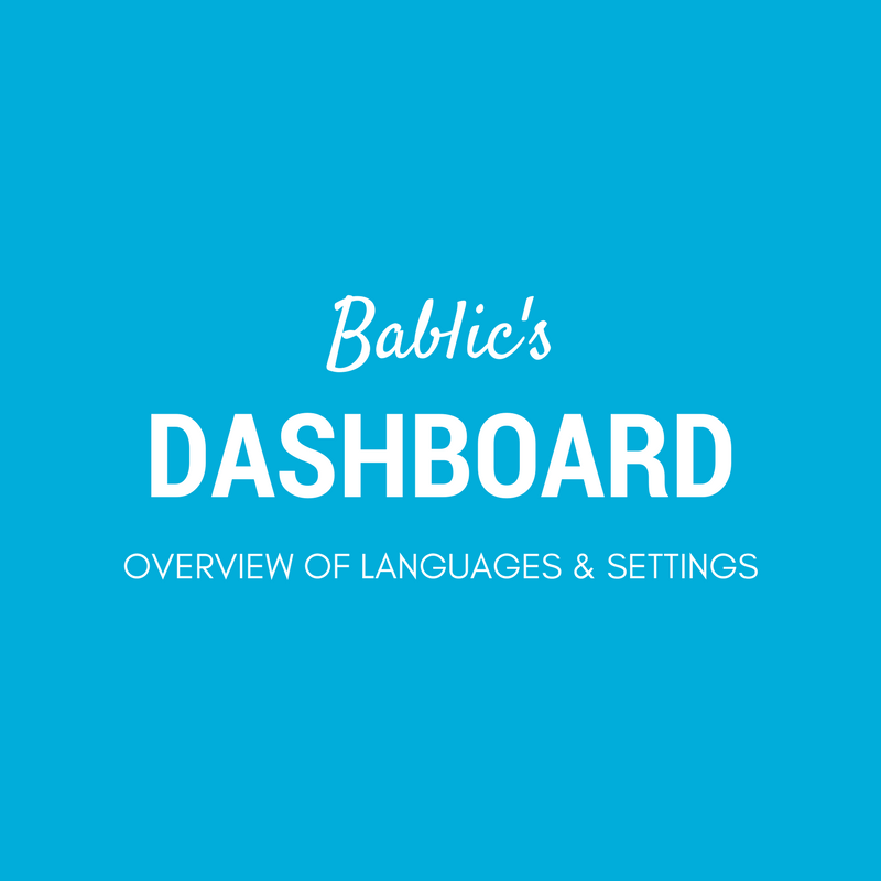 Detailed Overview Of Languages and Settings - Bablic Dashboard